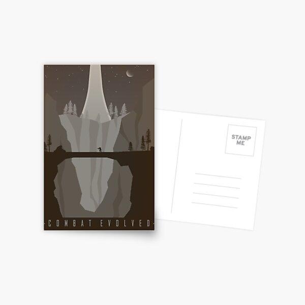 Affiche de voyage vintage Halo Combat Evolved Carte postale