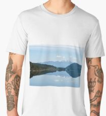 Snowy mountains reflection in a lake - Vancouver island Men's Premium T-Shirt