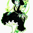 «Plant Witch - Green Witch - Bruja de las plantas - Bruja Verde» de Mar del Valle