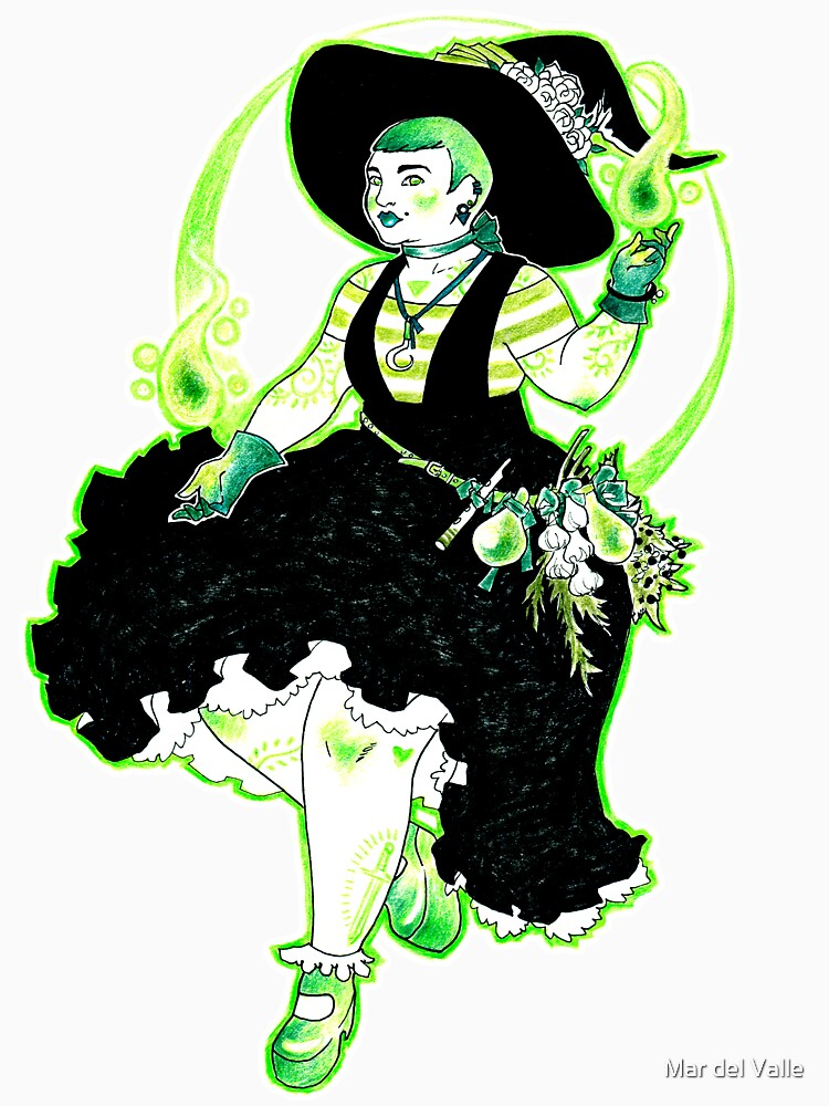 Plant Witch - Green Witch - Bruja de las plantas - Bruja Verde by mardelvallearts
