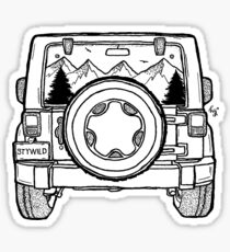 Jeep Adventure Ahead Sticker