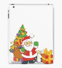 merry christmas 8bit retro iPad Case/Skin