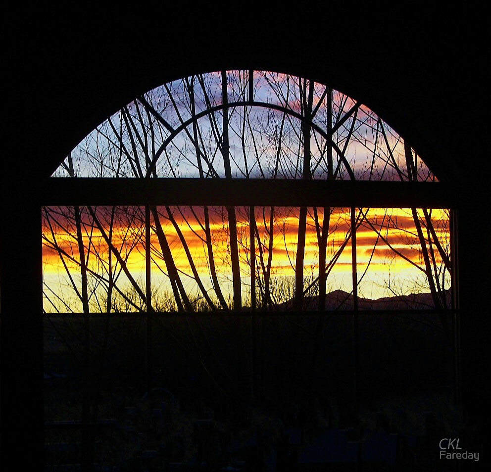 Sunset Through Laurie's Window by Fareday