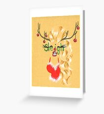 Sleigh Greeting Card