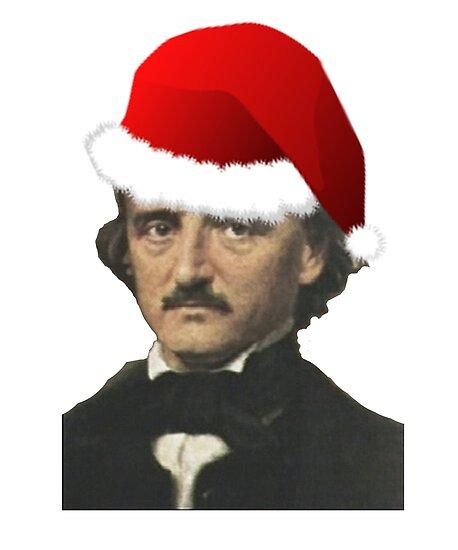 50a589be9 Funny Santa Hat Edgar Allan Poe Shirt - Poe Christmas TShirt ...
