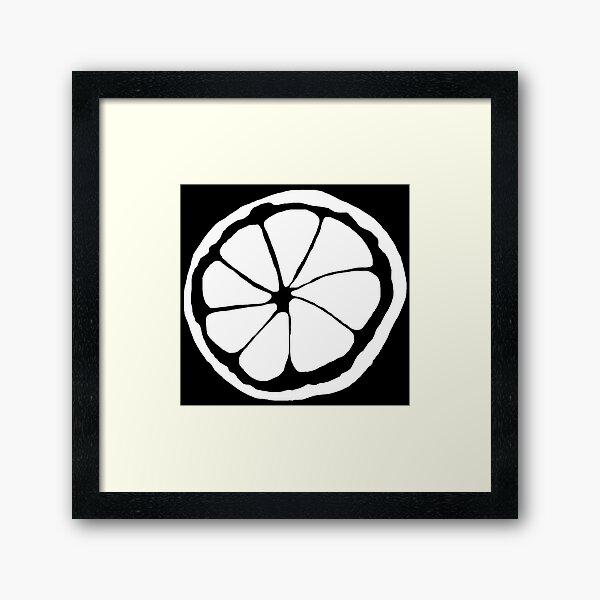 Stone Roses (lemon) Framed Art Print
