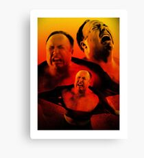 ALEX JONES IS ANGRY Canvas Print