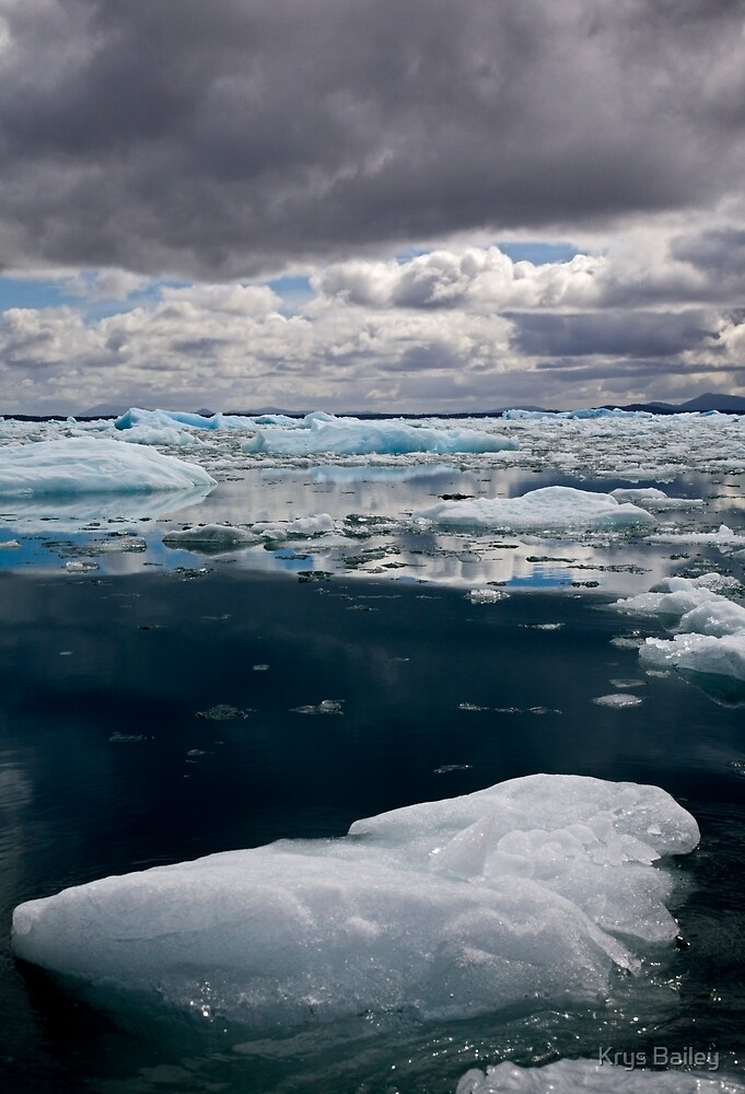 Bergs in Sea and Sky by Krys Bailey