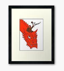 """""""For Narnia!"""" Framed Print"""
