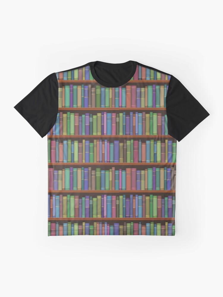 Alternative Ansicht von Bücherregale Bücher Grafik T-Shirt
