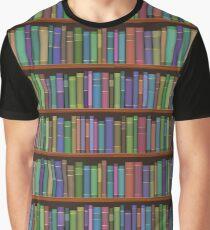 Bücherregale Bücher Grafik T-Shirt