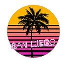 San Diego California Beach Design by tshirtbrewery