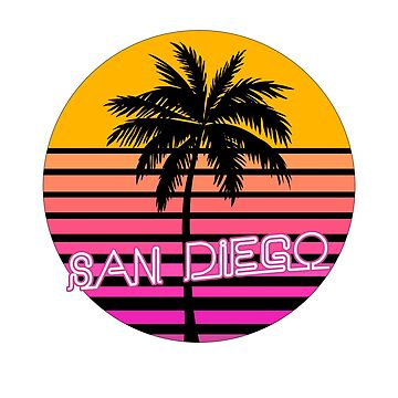 San Diego California Beach Design by tshirtbrewery
