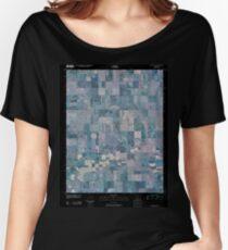 USGS TOPO Map Kansas KS Ness City SE 20091215 TM Inverted Women's Relaxed Fit T-Shirt