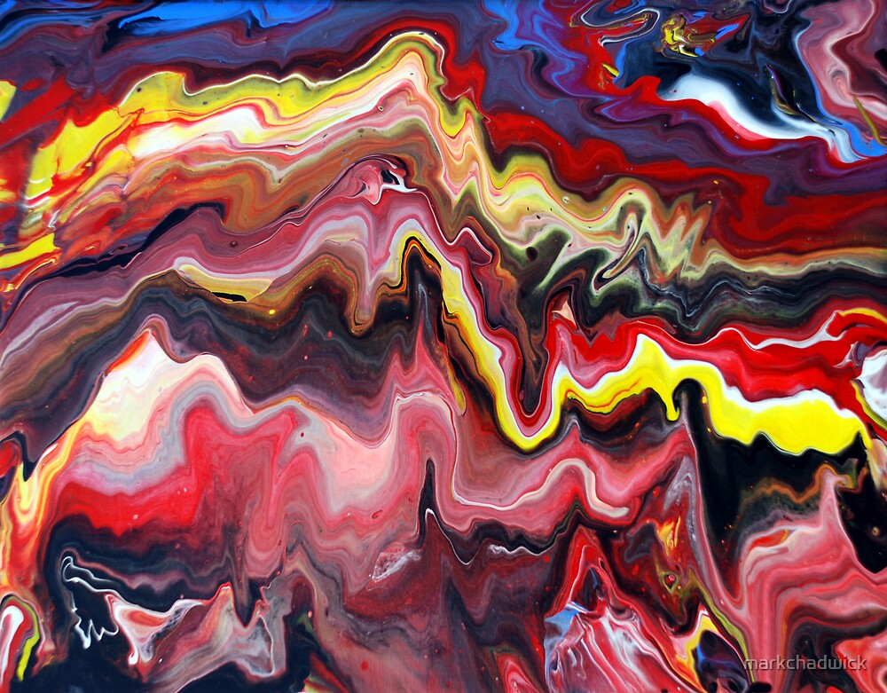 Abstract acrylic painting effects by markchadwick for Acrylic paint effects