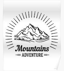 Wanderlust Mountains Adventure Poster
