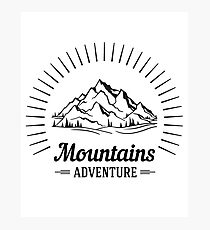 Wanderlust Mountains Adventure Photographic Print