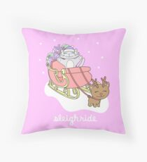Sleigh ride Floor Pillow