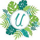 Monogramm-Buchstabe U | Personalisiert | Tropisches Design von PraiseQuotes
