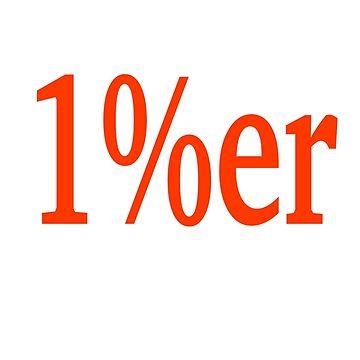 1%er biker logo by wolfman57
