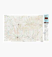 USGS TOPO Map Kansas KS Concordia 801579 1985 100000 Photographic Print