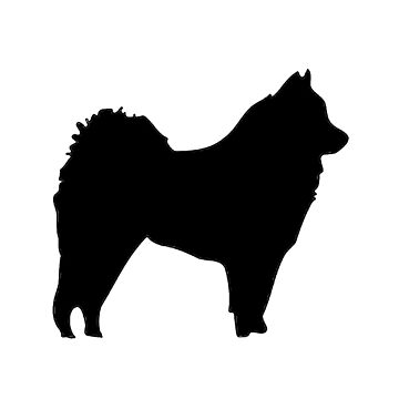 eurasier silhouette by marasdaughter