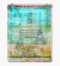 Witty Jane Austen travel quote iPad Case/Skin