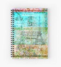 Witty Jane Austen travel quote Spiral Notebook