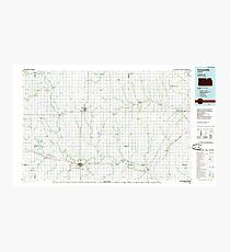 USGS TOPO Map Kansas KS Concordia 801580 1985 100000 Photographic Print