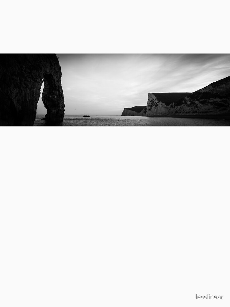 England Panorama BW - Durdle Door by lesslinear