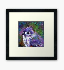 Reasons to Be Cheerful: Tufted Titmice Framed Print