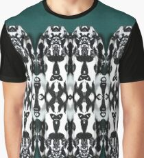 Tribal Dance - Black and White Feathers Graphic T-Shirt