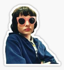 finn wolfhard diva glasses sticker Sticker
