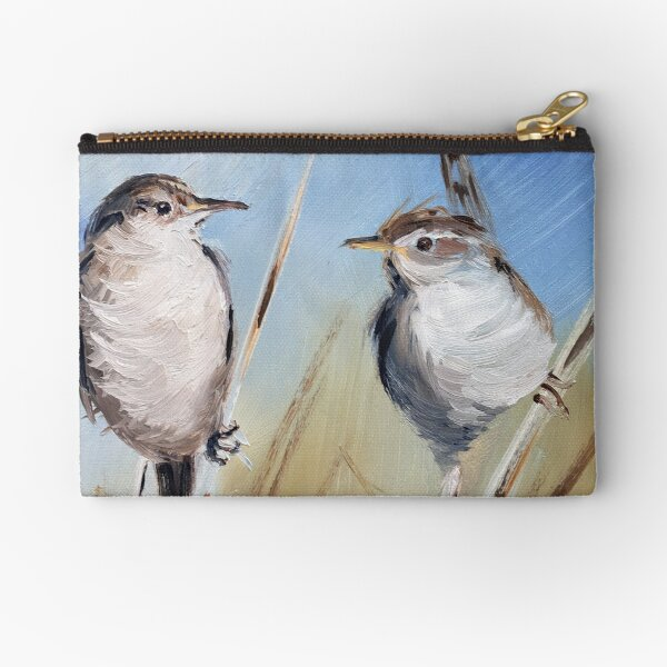The Marsh Wrens Zipper Pouch