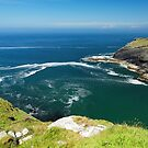 Overlooking Tintagel Haven by Rod Johnson