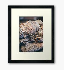 Mom's Knitting Framed Print