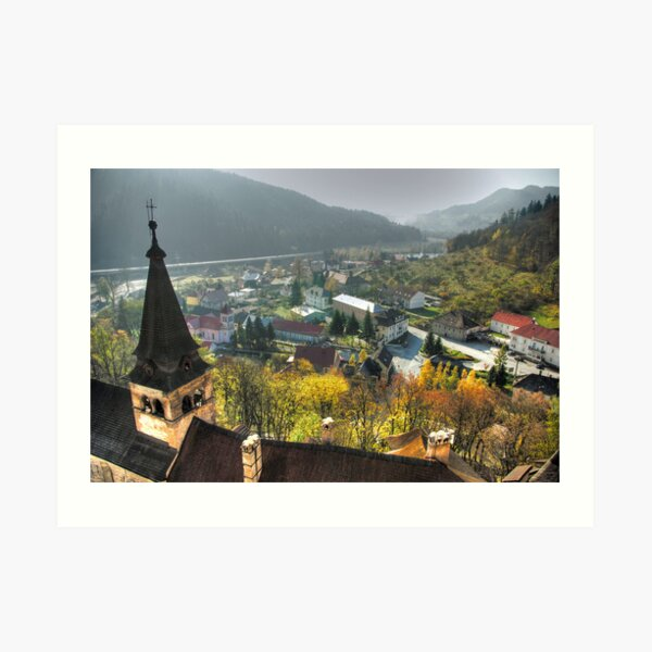 The view from Orava Castle Art Print
