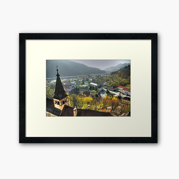 The view from Orava Castle Framed Art Print