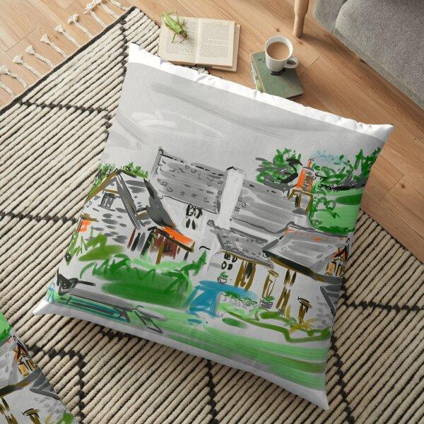 A North Devon farmhouse Floor Pillow