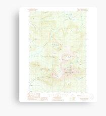 Maine USGS Historical Map Mount Katahdin 460642 1988 24000 Canvas Print
