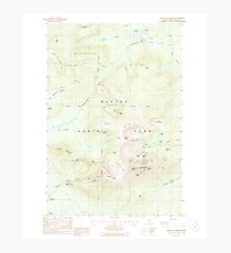 Maine USGS Historical Map Mount Katahdin 460642 1988 24000 Photographic Print