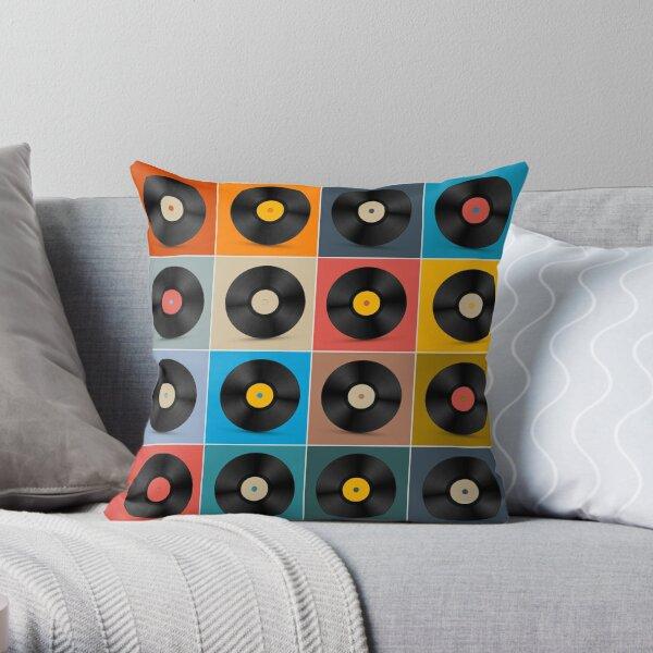 Album,Vinyl Record,Music Poster Throw Pillow