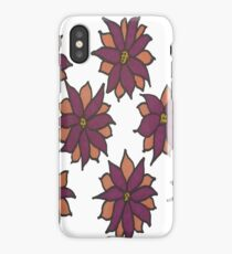Holiday Two-Tone Flowers iPhone Case
