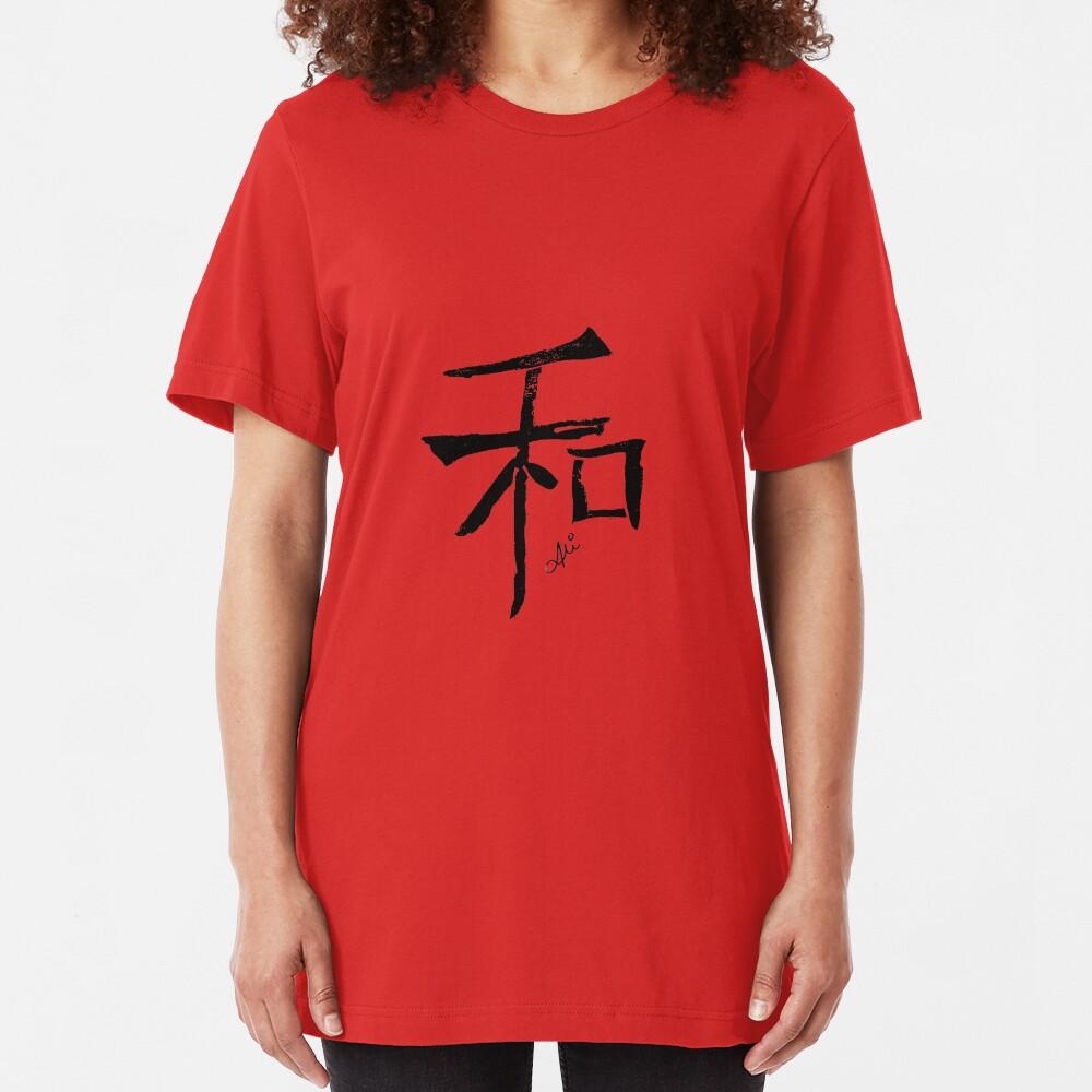 Peace - Black Slim Fit T-Shirt