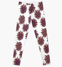 Holiday Two-Tone Flowers Leggings