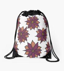 Holiday Two-Tone Flowers Drawstring Bag