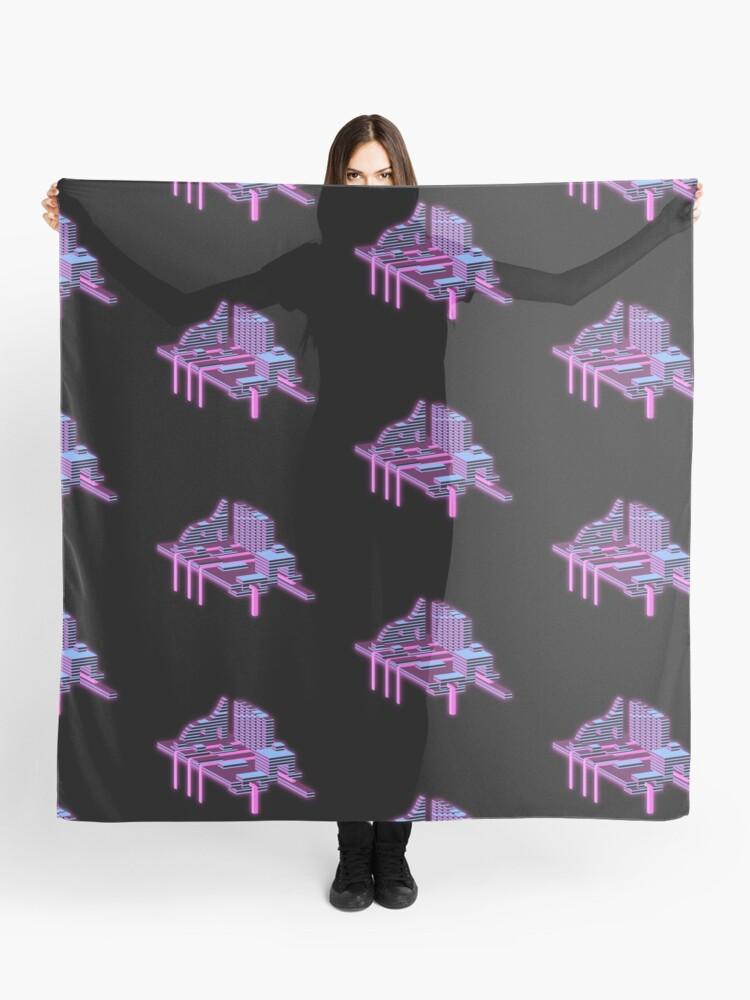 Glow Aesthetic Vaporwave Isometric Art Set Design Sticker Laptop Case Digital Illustration Scarf