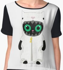 Adorable Shirts with Cats | For Cat Lovers and Dog Lovers Women's Chiffon Top