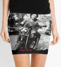 Keanu Reeves on Bike – Black and White  Mini Skirt