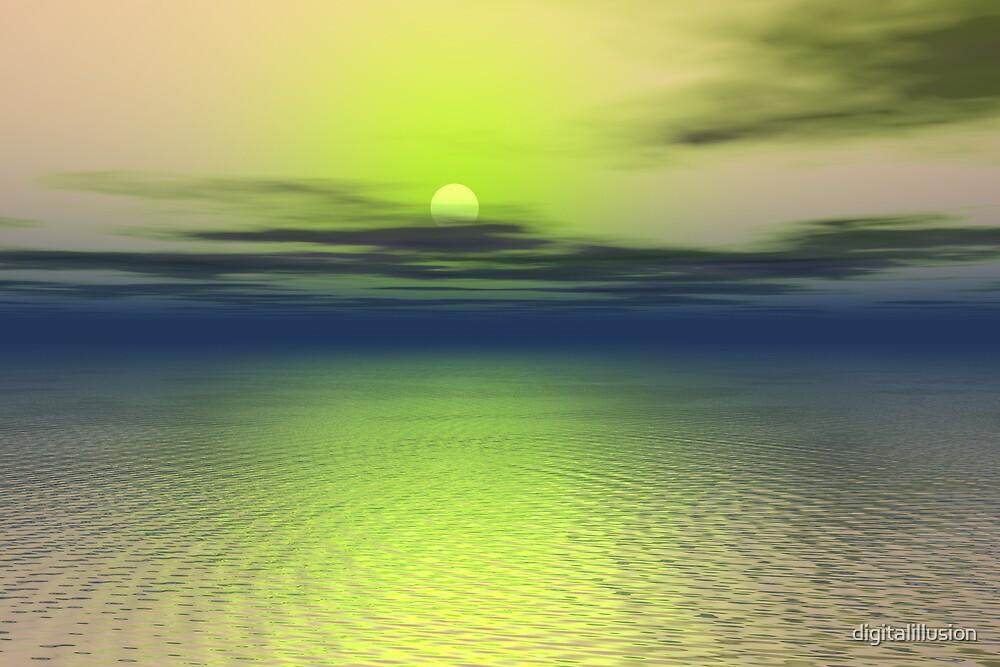 Alien sunset by digitalillusion